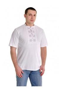 Вишита футболка хрестиком «Народна» М-615-1