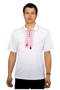 Вишита футболка хрестиком «Поло» М-612-11