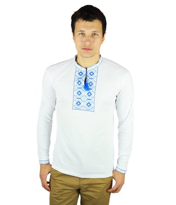 Вишита футболка хрестиком «Ромби» М-614-12