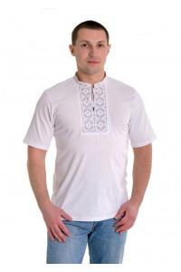 Вишита футболка М-614-95 дефект вишивки