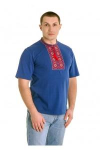 Вишита футболка хрестиком «Ромби» М-614-4