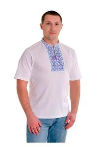 Вишита футболка М-614-96 Вишивка: Фіолетова, синя