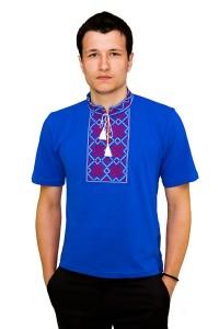 Вишита футболка гладдю «Сніжинка» М-616-12