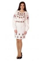 Плаття вишите жіноче М-1034-99 (бежевого кольору)