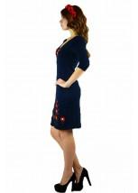 Плаття вишите гладдю  «Маки 3D» М-1025-1