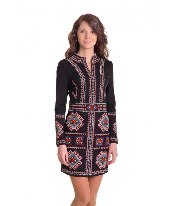 Плаття вишите хрестиком «Карпатське» М-1026