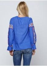Синя жіноча вишиванка М-230-3