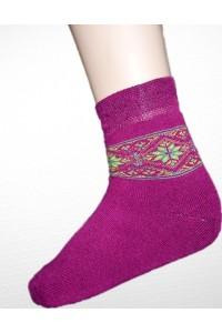 Шкарпетки зимові вишиті жіночі М-800-5