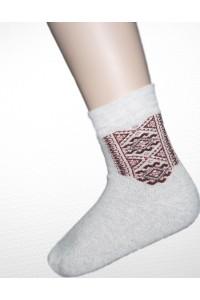 Шкарпетки зимові вишиті чоловічі М-890-4