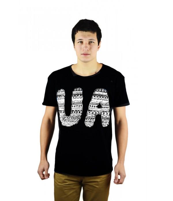 "Мужская патриотическая футболка ""UA "" М-902-3, Мужская патриотическая футболка ""UA "" М-902-3 купити"
