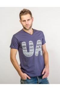 """Чоловіча патріотична футболка """"UA"""" М-902-2"""