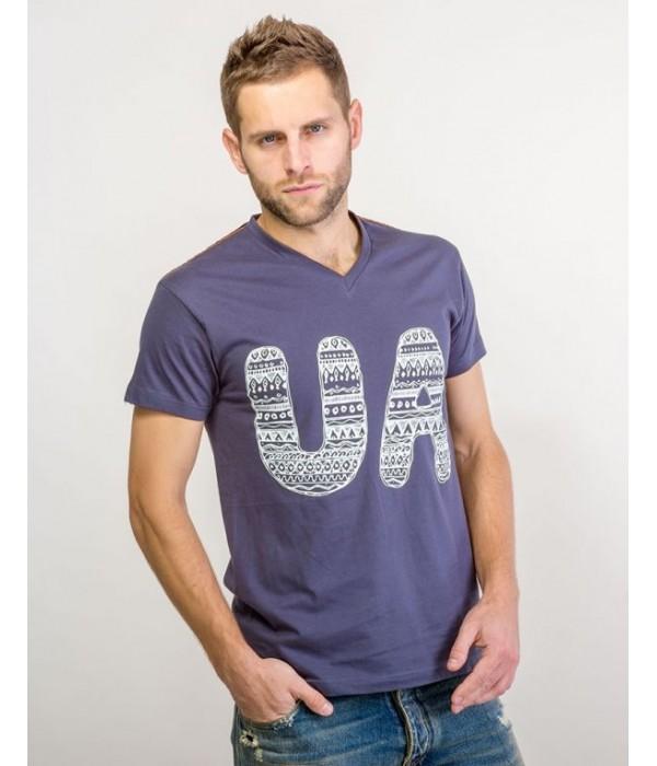 "Чоловіча патріотична футболка ""UA"" М-902-2, Чоловіча патріотична футболка ""UA"" М-902-2 купити"