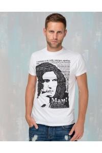 """Чоловіча патріотична футболка """"Кузьма"""" М-907"""