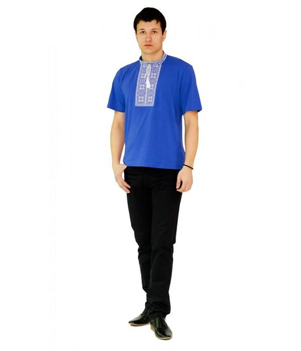 Вишита футболка хрестиком «Народна» М-615-5, Вишита футболка хрестиком «Народна» М-615-5 купити