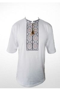 Вишита футболка хрестиком «Народна» М-615-10