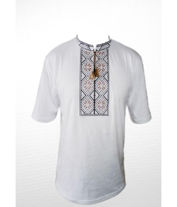 Вишита футболка хрестиком «Народна» М-615-10, Вишита футболка хрестиком «Народна» М-615-10 купити