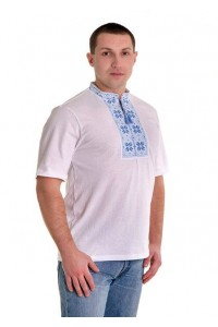 Вышитая футболка крестиком «Народная» М-615