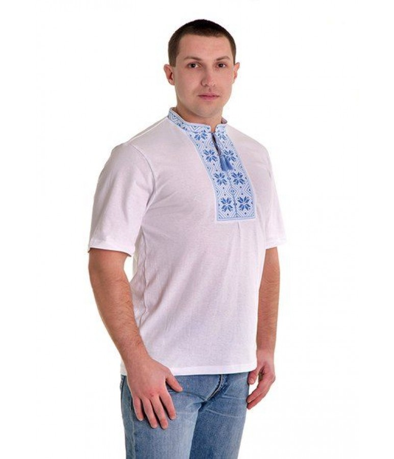 Вишита футболка хрестиком «Народна» М-615 купити у Львові 00d1a958e1b98