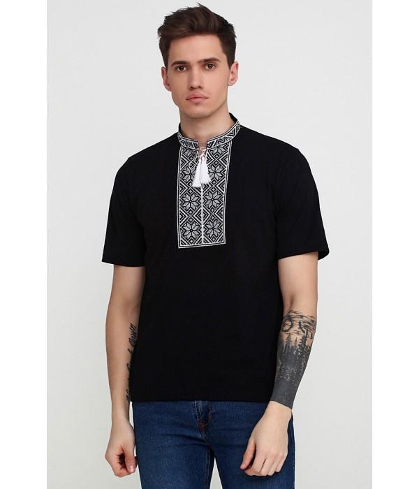 Вышитая футболка «Народная» М-615-12, Вышитая футболка «Народная» М-615-12 купити