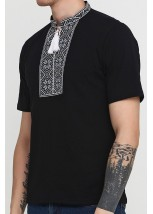Вышитая футболка «Народная» М-615-12