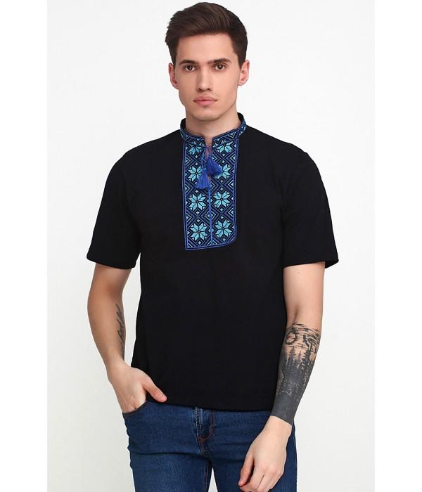 Вышитая футболка «Народная» М-615-13, Вышитая футболка «Народная» М-615-13 купити
