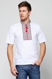 Вишита футболка хрестиком «Народна» М-615-2