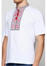 Вышитая футболка крестиком «Народная» М-615-2