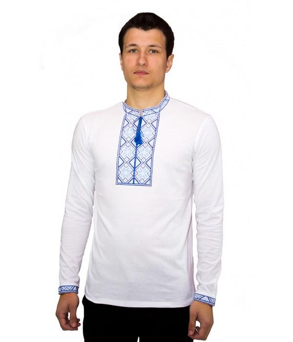 Вышитая футболка крестиком «Народная» М-615-7, Вышитая футболка крестиком «Народная» М-615-7 купити