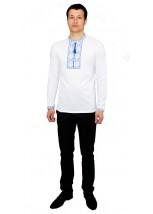 Вышитая футболка крестиком «Народная» М-615-7