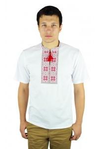 Вышитая футболка крестиком «Народная» М-615-3