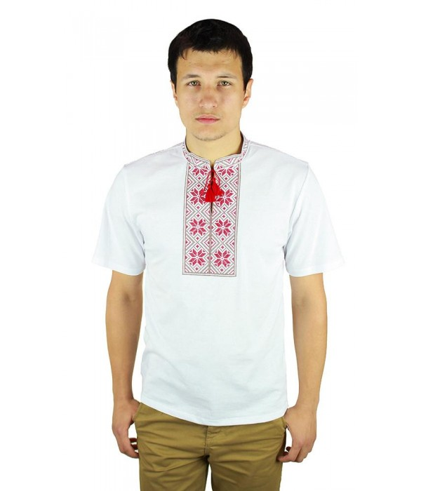 Вишита футболка хрестиком «Народна» М-615-3, Вишита футболка хрестиком «Народна» М-615-3 купити