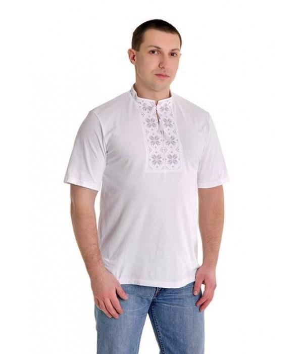 Вишита футболка хрестиком «Народна» М-615-1, Вишита футболка хрестиком «Народна» М-615-1 купити