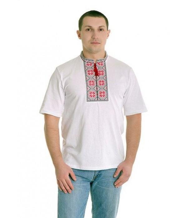 Вишита футболка хрестиком «Народна» М-615-2, Вишита футболка хрестиком «Народна» М-615-2 купити
