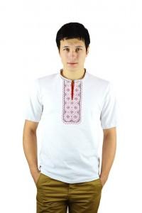 Вышитая футболка крестиком «Поло» М-612-12