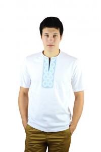 Вышитая футболка крестиком «Поло» М-612-13