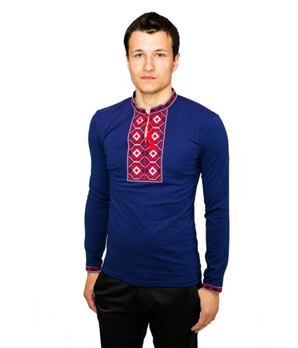 Вышитая футболка крестиком «Ромбы» М-614-6, Вышитая футболка крестиком «Ромбы» М-614-6 купити