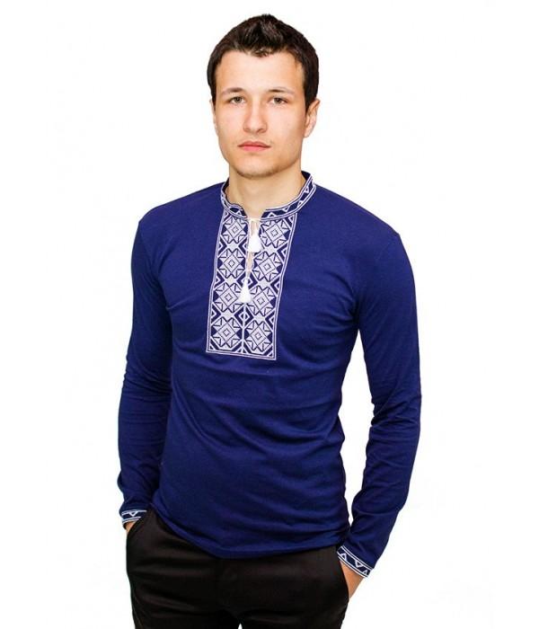 Вышитая футболка крестиком «Ромбы» М-614-8, Вышитая футболка крестиком «Ромбы» М-614-8 купити