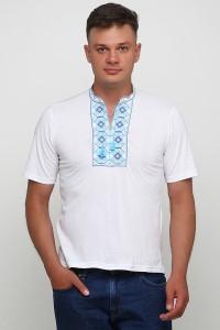 """Чоловіча футболка з вишивкою Етномодерн """"Ромби"""" М-614-2"""