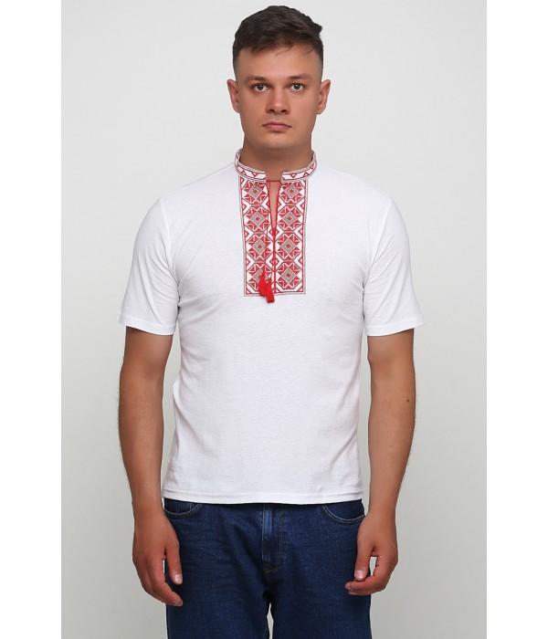 "Вышитая футболка Етномодерн ""Ромбы"" М-614-5, Вышитая футболка Етномодерн ""Ромбы"" М-614-5 купити"