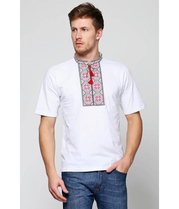 """Мужская футболка вышиванка Етномодерн """"Народная"""" М-615-2, Мужская футболка вышиванка Етномодерн """"Народная"""" М-615-2 купити"""