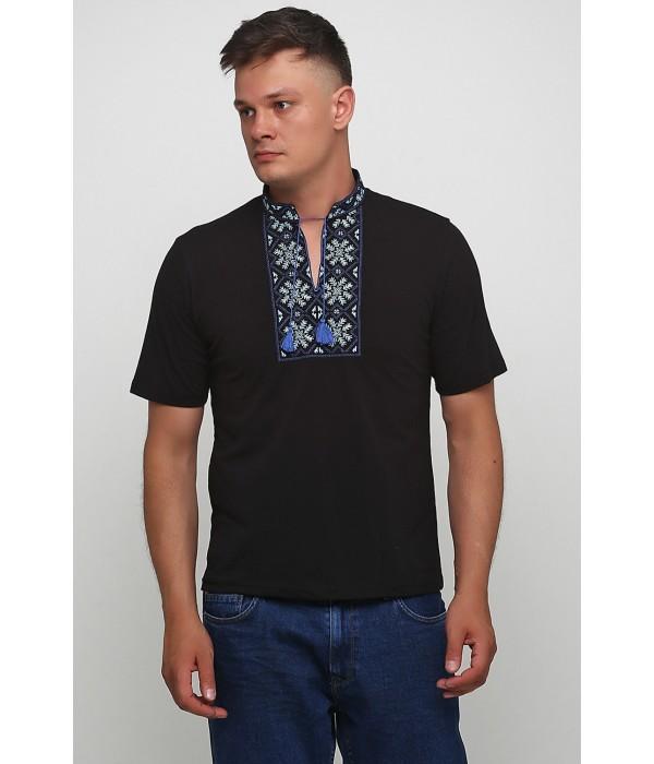 """Вышитая футболка Етномодерн """"Снежинка"""" М-616-10, Вышитая футболка Етномодерн """"Снежинка"""" М-616-10 купити"""