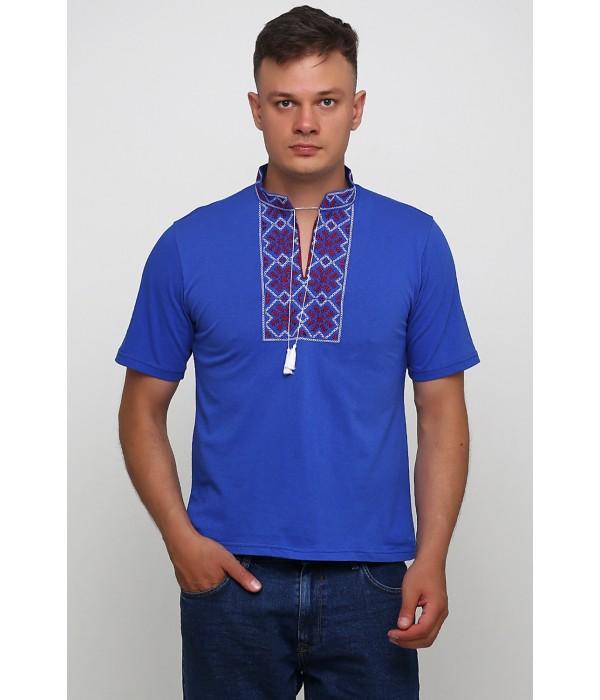 Вишита футболка гладдю «Сніжинка» М-616-12, Вишита футболка гладдю «Сніжинка» М-616-12 купити