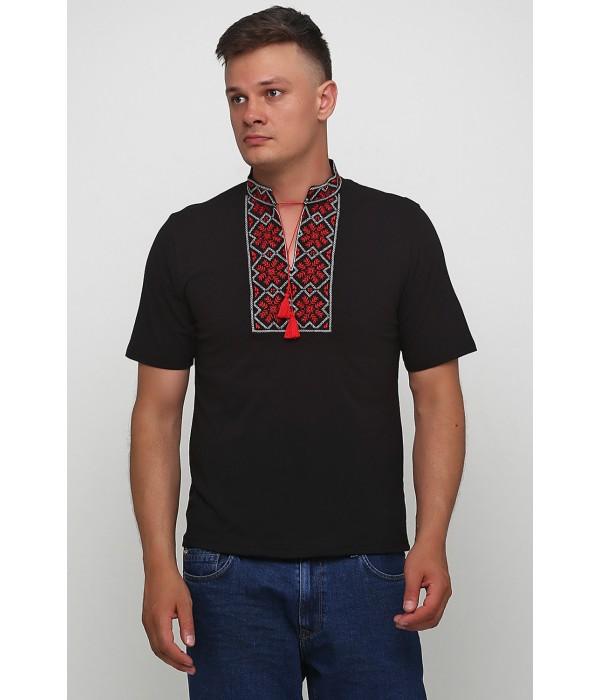 """Мужская футболка с вышивкой Етномодерн """"Снежинка"""" М-616-4, Мужская футболка с вышивкой Етномодерн """"Снежинка"""" М-616-4 купити"""