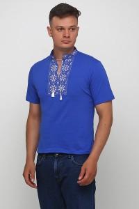 """Чоловіча футболка з вишивкою Етномодерн """"Сніжинка"""" М-616-9"""