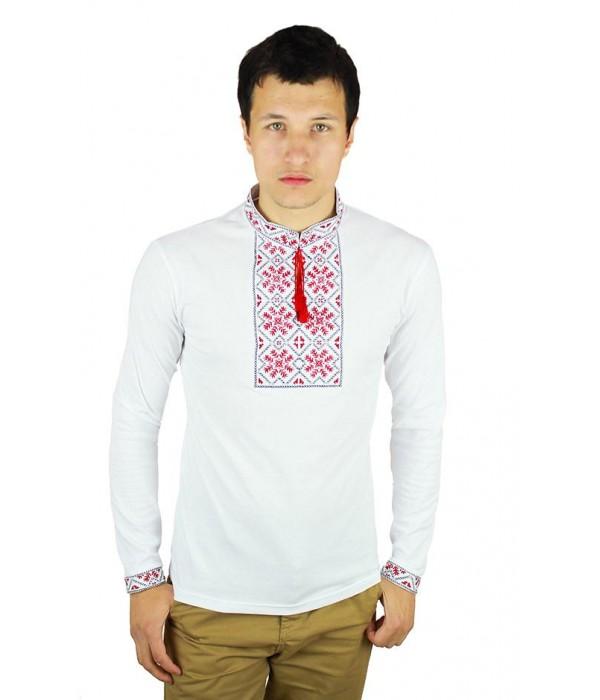 Вишита футболка гладдю «Сніжинка» М-616-7, Вишита футболка гладдю «Сніжинка» М-616-7 купити