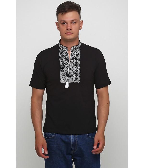 Вышитая футболка Етномодерн М-619-1, Вышитая футболка Етномодерн М-619-1 купити
