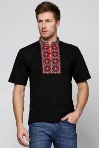 Мужская вышитая футболка Етномодерн М-619