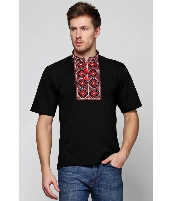 Мужская вышитая футболка Етномодерн М-619, Мужская вышитая футболка Етномодерн М-619 купити