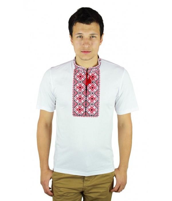 Вышитая футболка Етномодерн М-619-12, Вышитая футболка Етномодерн М-619-12 купити