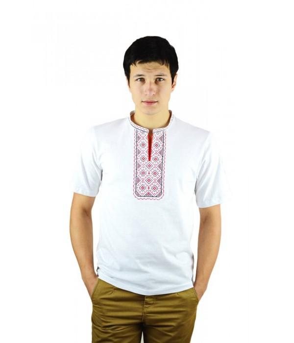 Вышитая футболка крестиком «Поло» М-612-12, Вышитая футболка крестиком «Поло» М-612-12 купити